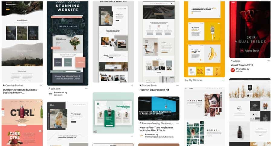 Website Redesign mood board
