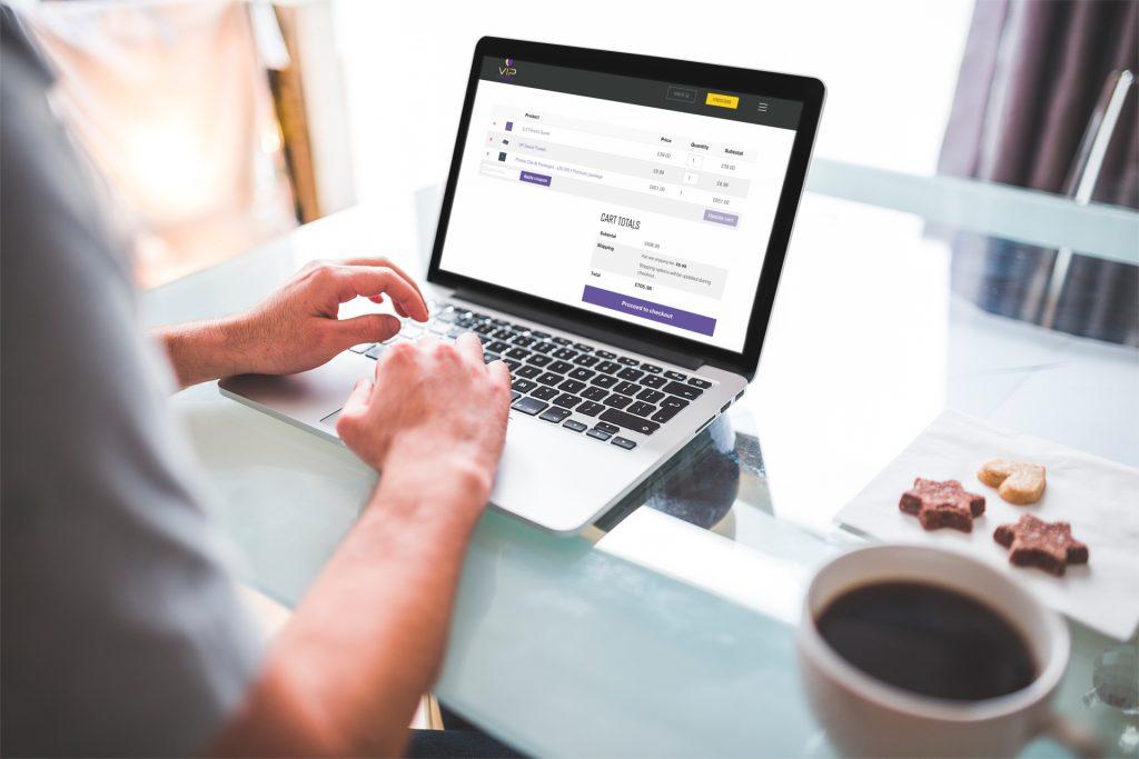 ecommerce website design - vip checkout