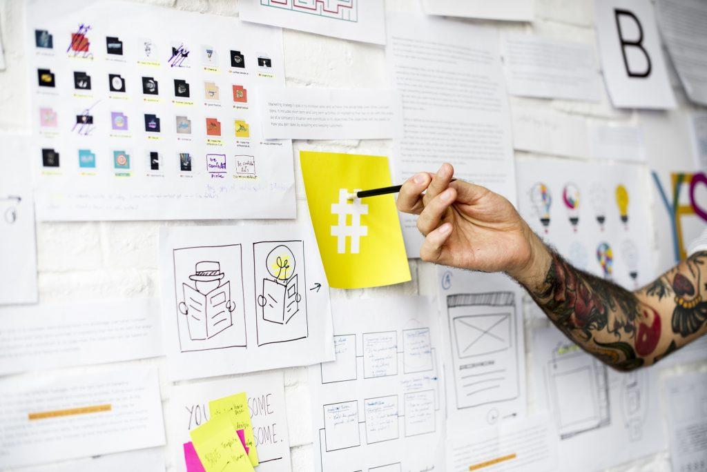 marketing strategy wall planning
