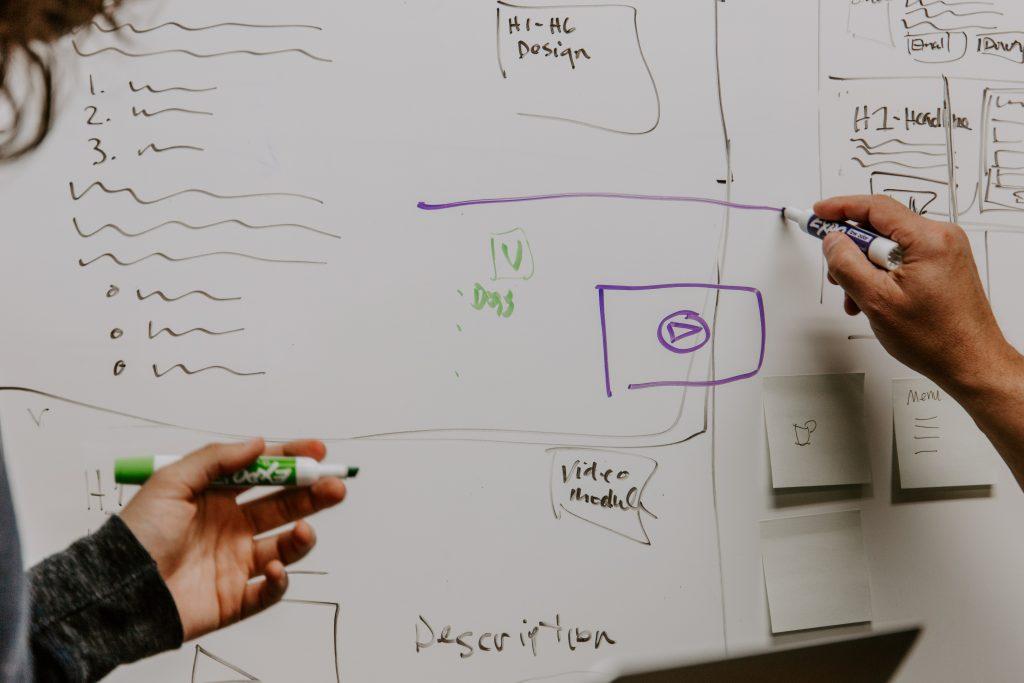 Establishing website goals while planning website structure